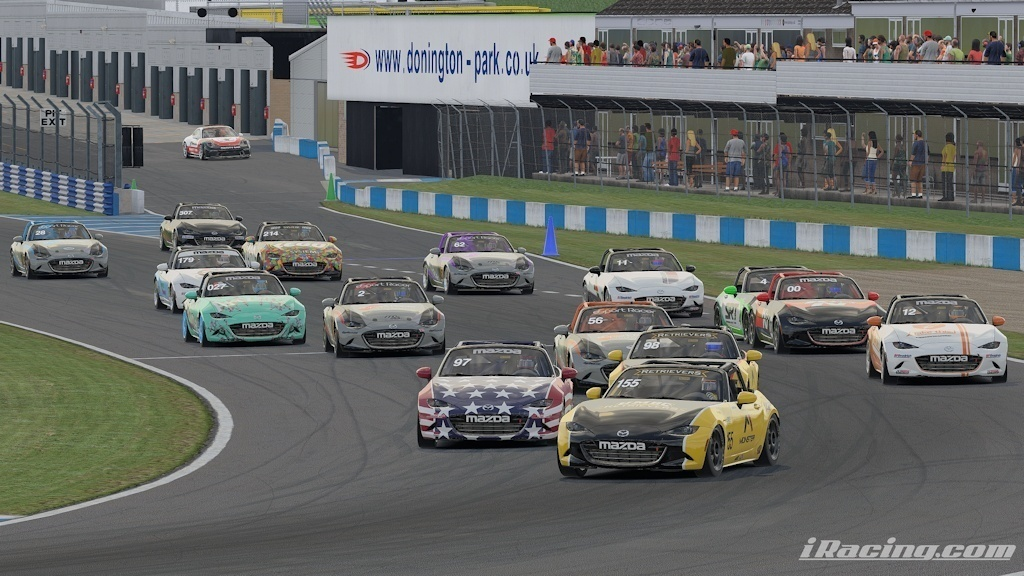 MX-5 Cup Series met at Donington Park