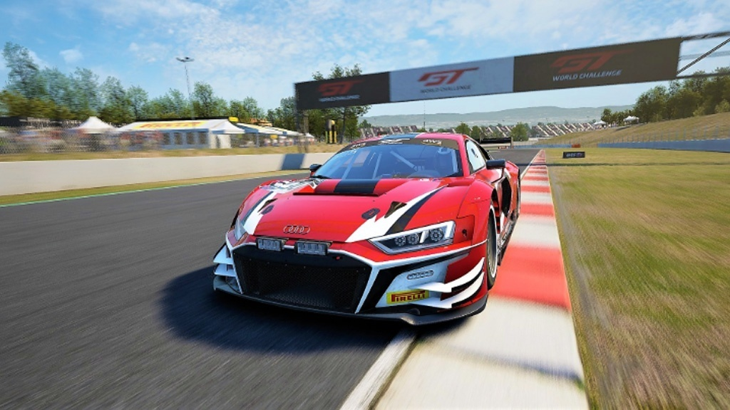 CMS Driver Josh Staffin in his Audi at Barcelona GT Rivals Round 6.