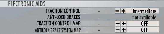 Anti-lock brake settings