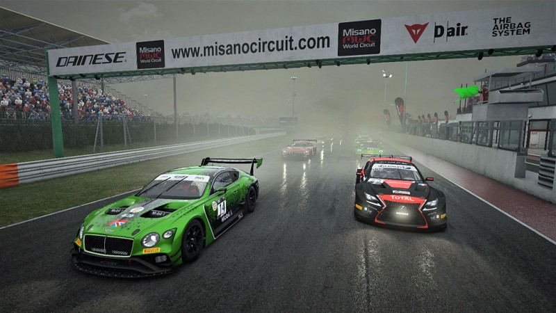 A wet day at Misano