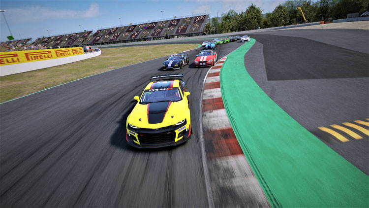 It was a great race start for the GT4 class as they come down the straight into Turn 1!