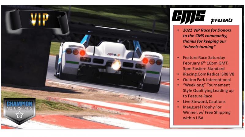 CMS Vip Race Poster 2021