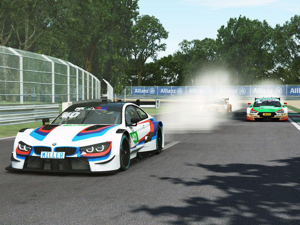 NARS DTM In the wet at Monza
