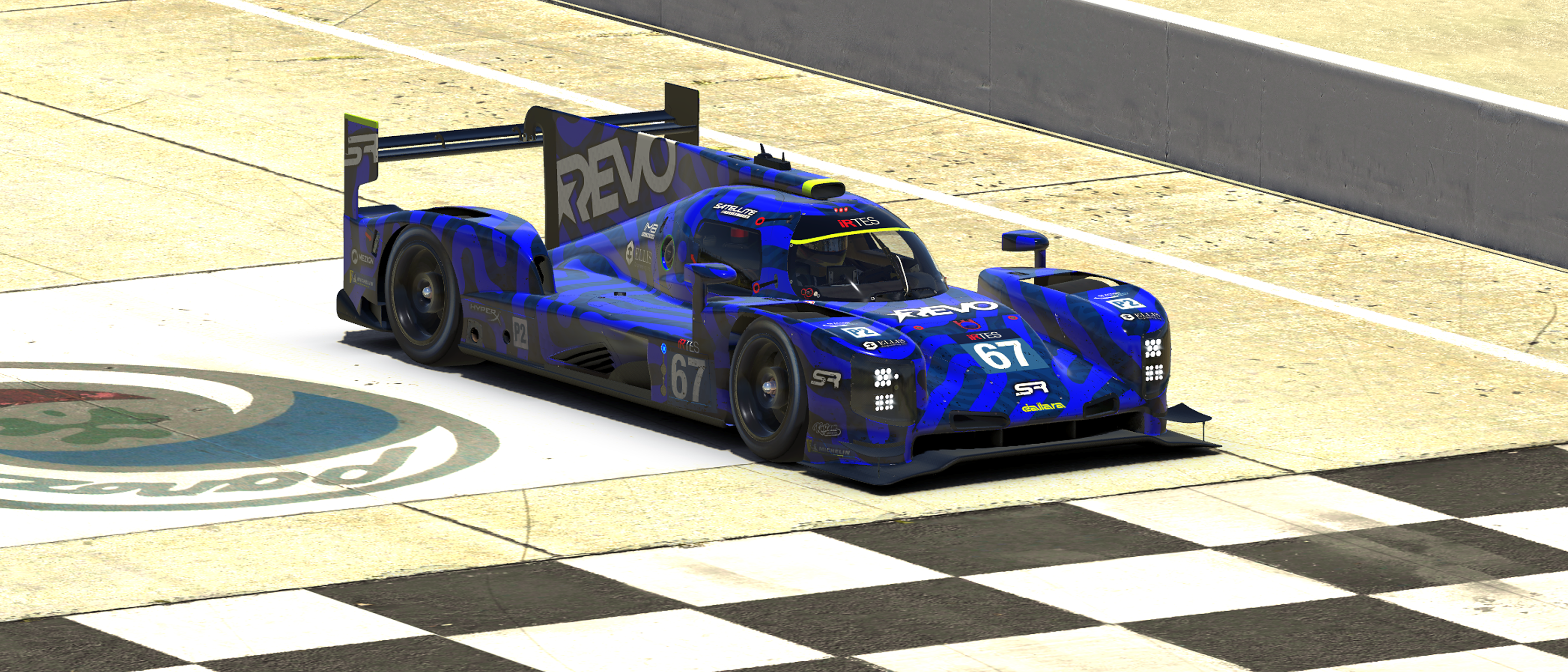 The LMP2 winning team of REVO Satellite Racing