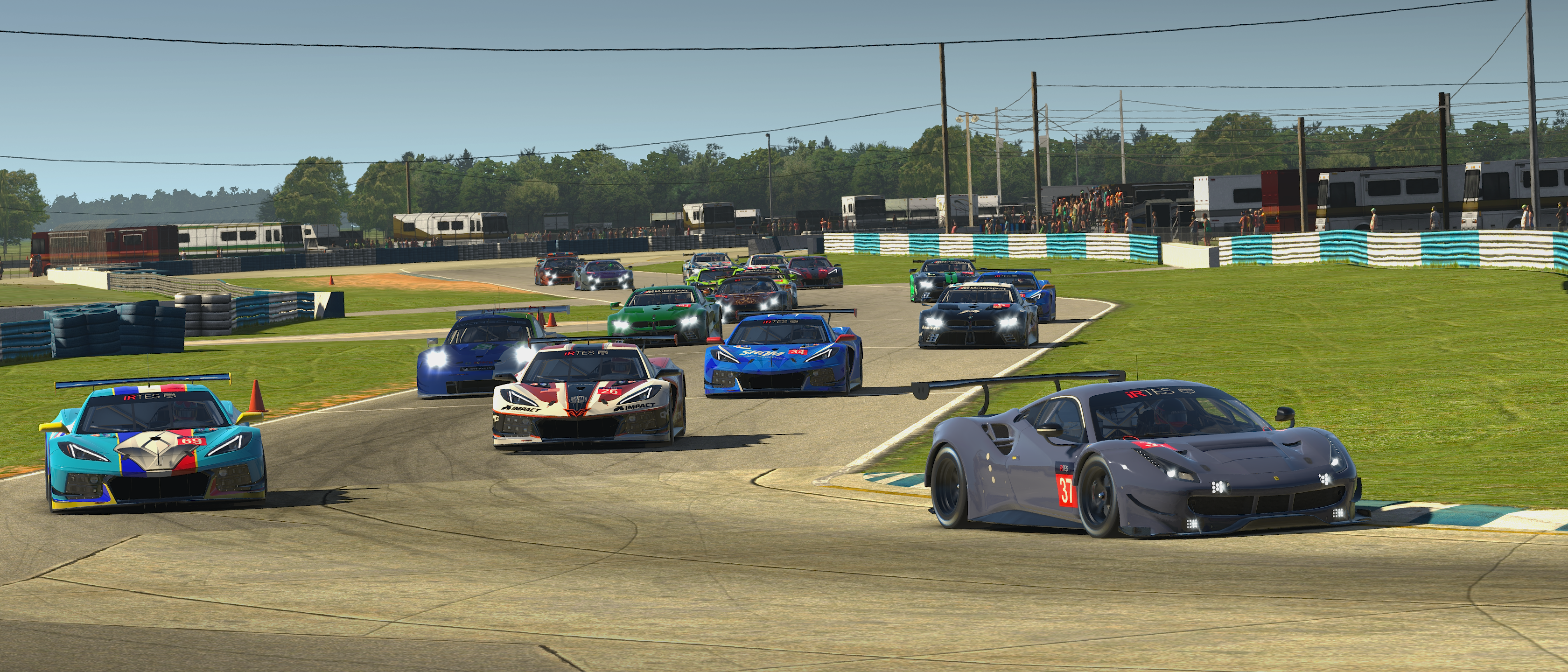 The iRTES field of GTE's at Sebring.