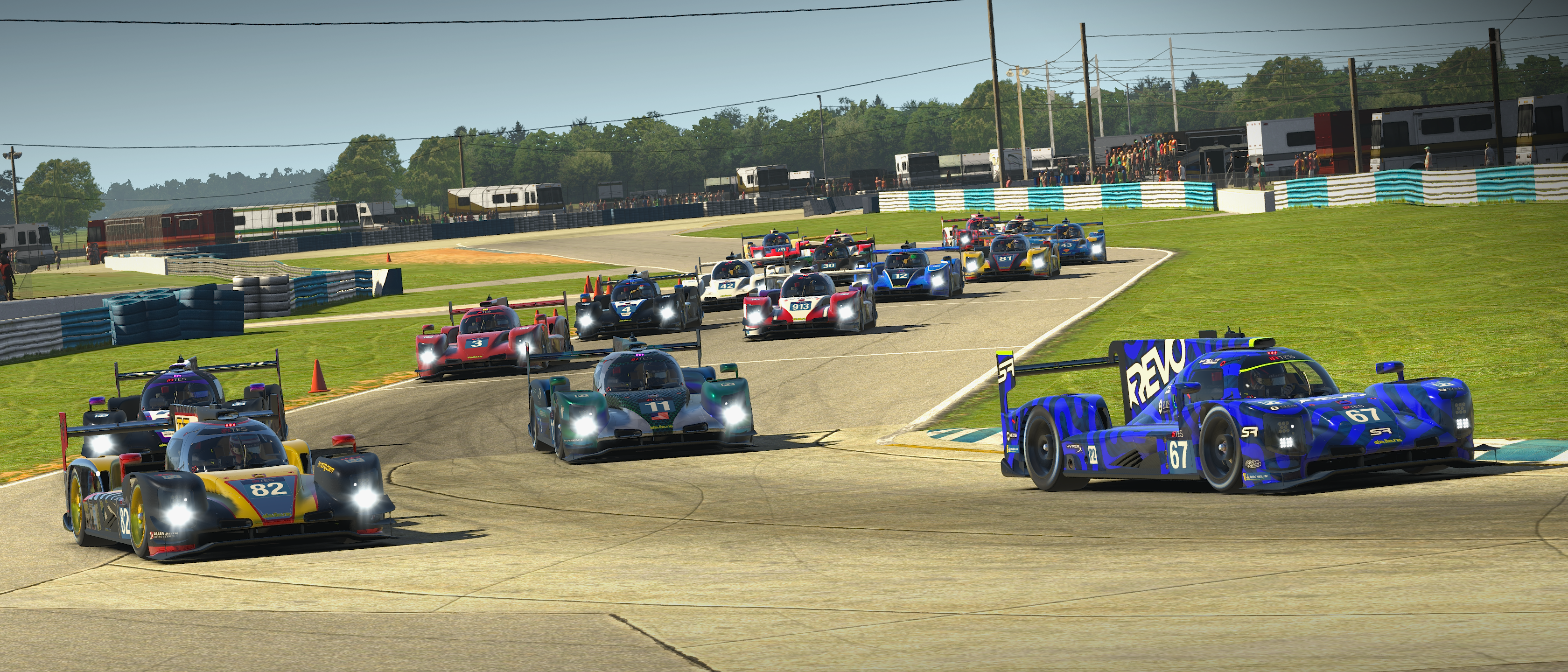 The iRTES field of LMP2 at Sebring