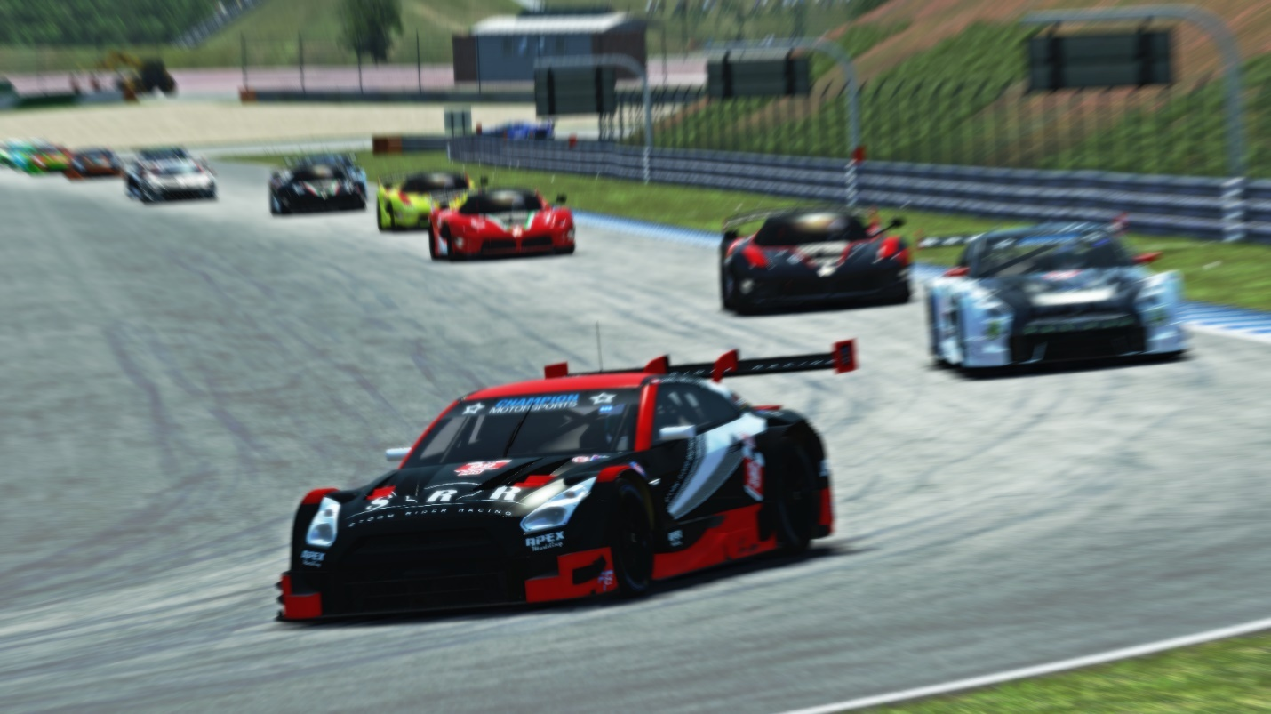Ahmed Abdalla leading the field early on in his Nissan GT-R LMH