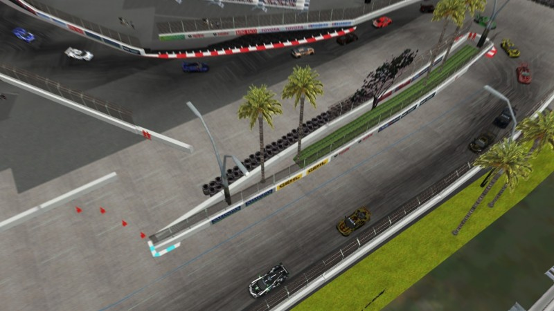 The always exciting hairpin at Long Beach.