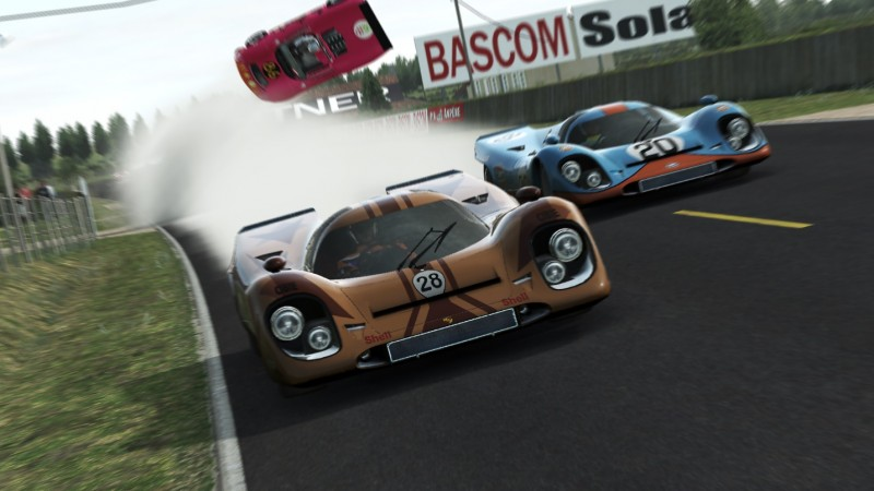 """The #86 Lola of Yassin Marzoug rolls before even completing a lap in a """"first-lap shunt"""", putting all n00n Racing crews hopes on the #00."""